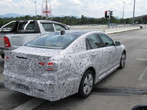 Rear right side of New Proton Perdana