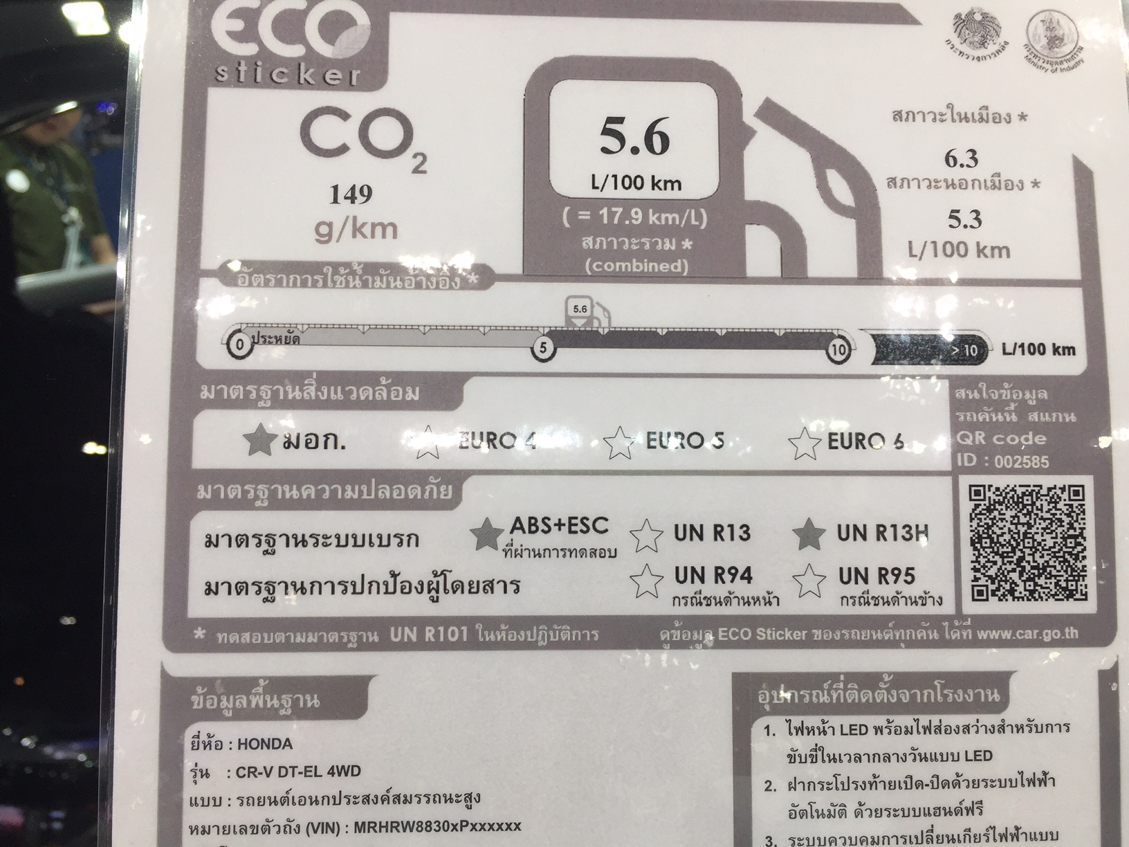 Honda CR-V Diesel Eco Label