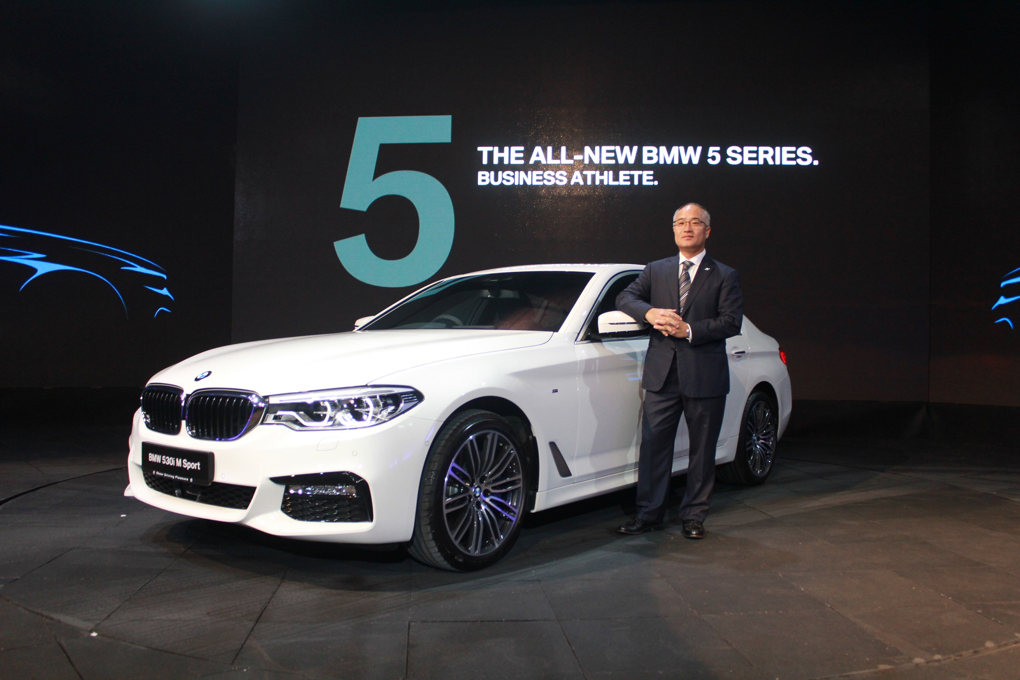 BMW Group Malaysia's Chief Executive Officer and Managing Director Han Sang Yun presenting the New 5 Series at the Official Launch