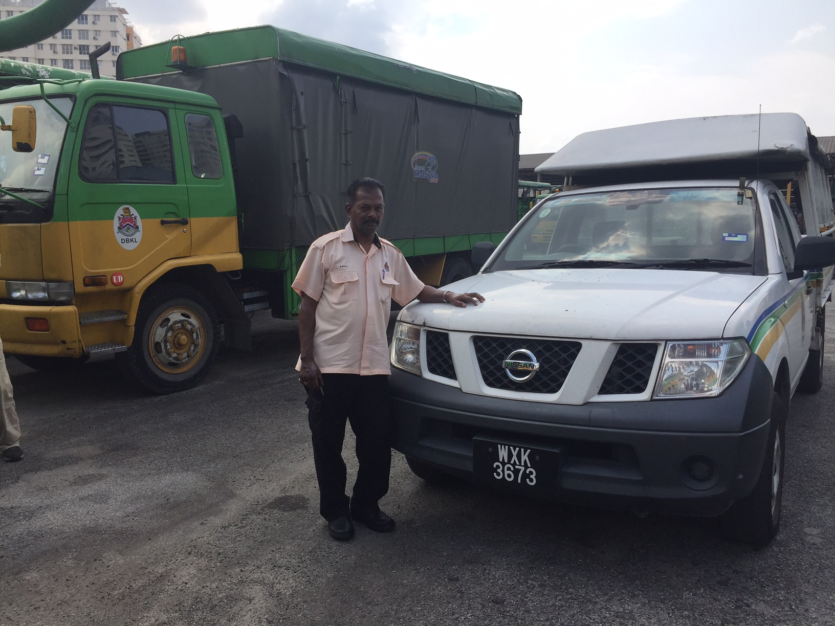 The Nissan Navara and the UD LKA tipper truck are two of DBKL's high-milers running on B10.