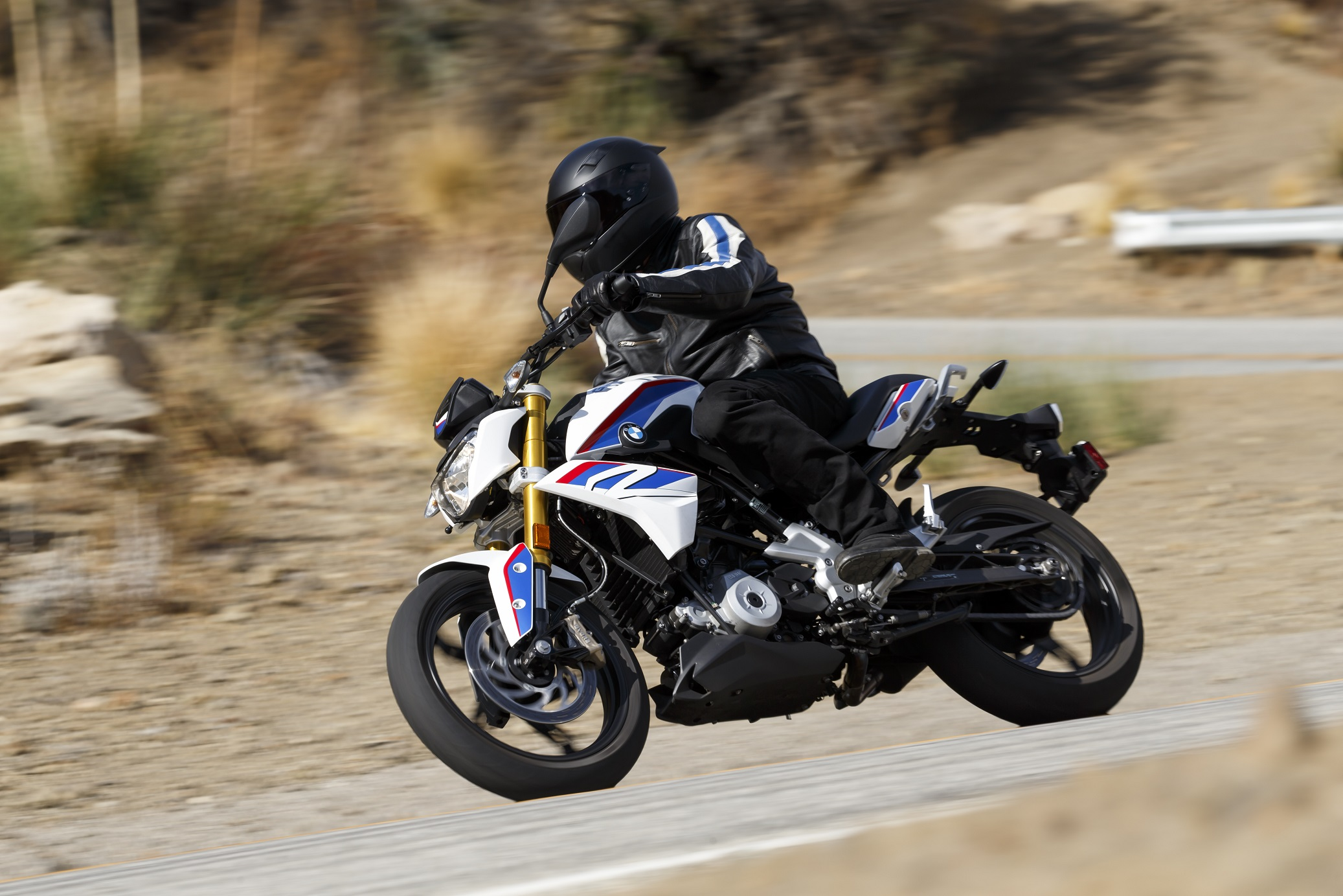 The BMW G 310 R is a capable performer in cityscapes and small country roads.